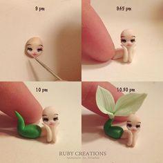 Creating a micro mermaid, first part... #miniature #mermaid #micro #sculpting…