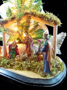 Nativity Table Top Christmas Tree 18 Christmas by AbodeDecorGifts