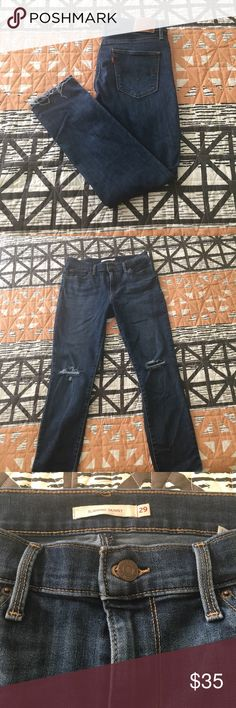 High rise skinny jeans Levi's High Rise Slimming Skinny jeans. Used like new. There's nothing wrong with them, I've lost weight and they fit lose! These are my fave and I'm sad they don't fit anymore! Make an offer! Levi's Jeans Skinny