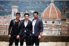 Il Volo a Firenze per rassegna stampa del concerto Notte Magica Tributo ai tre tenori