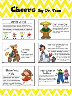 Mrs. Winter's Bliss: Sharing and Cheers! (free printable cheers cards for elementary classroom)