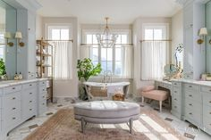 Step inside our Master - Rach Parcell Decor, Gorgeous Bathroom, Interior, Floor Design, Home, Master Bathroom, Interior Design, Bathroom Decor, Alice Lane Home