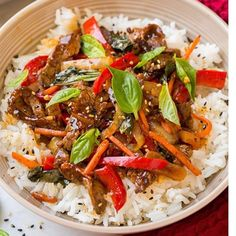 Thai Recipes, Beef Recipes, Dinner Recipes, Cooking Recipes, Healthy Recipes, Beef Tips, Quick Recipes, I Love Food, Good Food