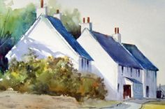glazing with watercolours and how to control water (free art tutorial article)