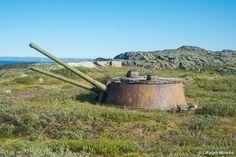 Abandoned coastal battery on the Kola Peninsula, in the northwest of the European part of Russia