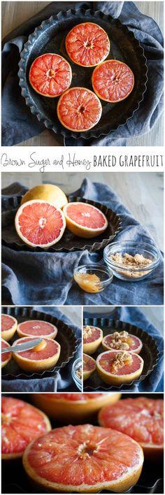Brown sugar and honey baked grapefruit, baked grapefruit, baked grapefruit recipe,brown sugar baked grapefruit, grapefruit recipes,