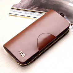 Ying Baili authentic Korean couple wallet General large zip around wallet small hand bag for men and ladies leather wallet