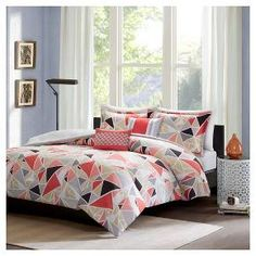 Jasmine Geometric Comforter Set - Pink : Target