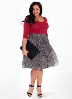 Loretta Skirt in Raven Daisy