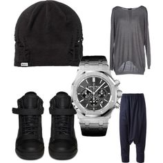 Lazy Day with Bay by lexy13430 on Polyvore featuring polyvore, fashion, style, ONLY, Giuseppe Zanotti, Audemars Piguet and RVCA