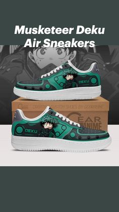 Air Force Shoes, Anime Inspired Outfits, Anime Crafts, Musketeers, Painted Shoes, Kaneki, Custom Shoes, My Hero Academia, Designer Shoes