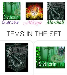 """""""Charlotte,Maxine and Marshall (Hogwarts Houses)"""" by maxinehearts ❤ liked on Polyvore featuring art"""