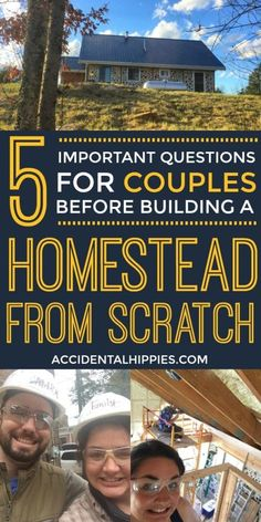 Is your relationship strong enough to withstand building a house together? Answer these 5 questions and get powerful insights to help you figure it out before you start building. Home Building Tips, Building A House, Building Ideas, Strong Relationship, Relationship Advice, Homestead Layout, 10 Year Plan, Off Grid Homestead, Build Your Own House