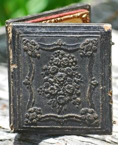 ~ An Exquisitely Embossed Daguerreotype...wish we could see the image on the inside ~