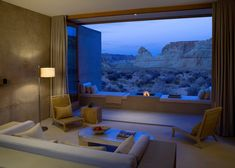 Living Room with open air view of Utah's southern desert [1200x897] - Interior Design Ideas, Interior Decor and Designs, Home Design Inspiration, Room Design Ideas, Interior Decorating, Furniture And Accessories