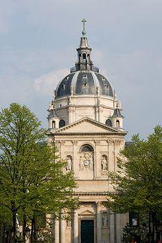 Sorbonne (from Sorbonne Square - Place de la Sorbonne), Paris, France
