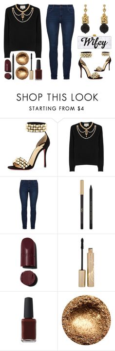 """""""Casually Adorned"""" by latoyacl ❤ liked on Polyvore featuring Christian Louboutin, Gucci, Yves Saint Laurent, Stila and Kester Black"""