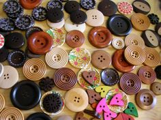 Wooden Button Grab Bag   12 Assorted Sewing by LindsayStreemDIY, $3.50