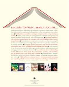 Lead towards literacy success! Permission to copy for classroom use, or request a copy: www.pembrokepublishers.com