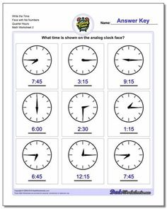 Telling Time Worksheets are a great way to practice reading a clock or watch face. On most of these worksheets, grade school students will be presented with a clock fact they either need to read to tell time or that they need to color in the hands to reflect a given digital time. Printable PDF files with answer keys. Clock Worksheets, Blends Worksheets, Free Printable Math Worksheets, 4th Grade Multiplication Worksheets, 1st Grade Worksheets, Science Worksheets, Clock Printable, Unit Of Time, Basic Math