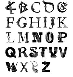 Artifacts Alphabet on Behance (Alexandre Fontes)