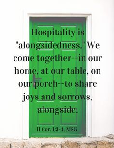 Hospitality is coming alongside another. #freeprintable