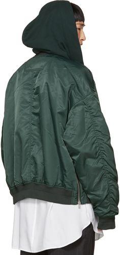 J - Green Hooded Bomber Jacket dabf51aa70d