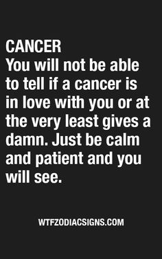 Don't think this is accurate for this Cancer.