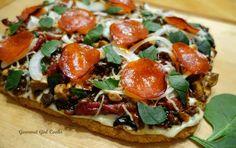 Gourmet Girl Cooks: Pizza -- Saturday's Meatza Pizza Pie -- Grain free...