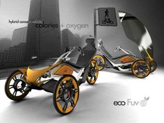 Seoul Cycle Design competition, the Fabian Magri 'Eco Fuv' is a clever cross-breed of a bicycle and a motorized vehicle. With three wheels, the agile trike is made from aluminum and an enhanced plastic material that keeps its frame light and efficient. Equipped with a built-in power supply, the Fabian Magri 'Eco Fuv' can be recharged at electric stations and was developed for serious road-running with its pull-down windshield and energy-efficient constitution.