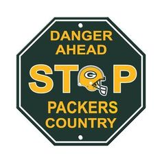 913d95434d3 Fremont Die NFL Stop Sign. Green Bay Packers ...
