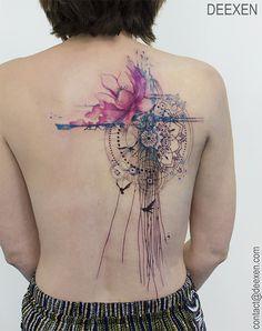 Sugar Magnolia #tattoo #tatouage #tattoos #watercolor #graphicdesign #flower…