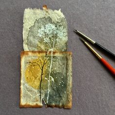 painting on teabags