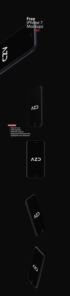 Free iPhone 7 mockups on Behance