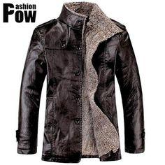 Новый 2014 Зимний Мужской Меховой Утолщенный и Шерстянной Ветрозащитный Водонепроницаемый Кожаный Пиджак Кожанное Пальто Мужские Кожанные Куртки куртка