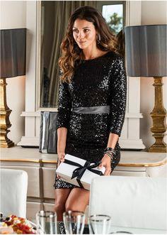 Sukienka z cekinami Zrób wrażenie • 239.99 zł • bonprix