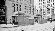 1905, entrata/uscita metropolitana a #East23Street #Subway #photo #vintage #fotografia #StatiUniti #Usa #biancoenero