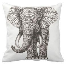 Jagrati Elephant Pillow Cover