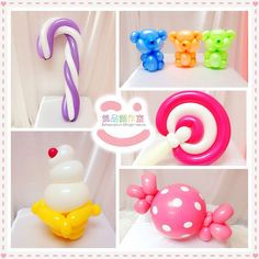 candy balloon art - Google Search Balloon Arrangements, Balloon Decorations, Balloon Columns, Balloon Arch, Candy Themed Party, Party Themes, Candyland, Diy And Crafts, Crafts For Kids
