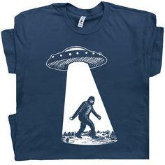Dinosaur Alien Abduction Women/'s Long Sleeve T-Shirt Funny UFO T-Rex Science