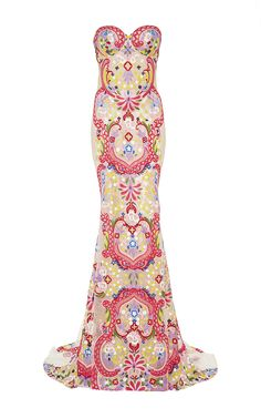 Embroidered Sweetheart Gown by Naeem Khan for Preorder on Moda Operandi