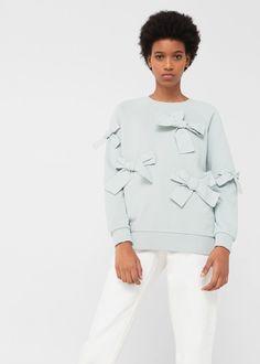 Bow cotton sweater | MANGO