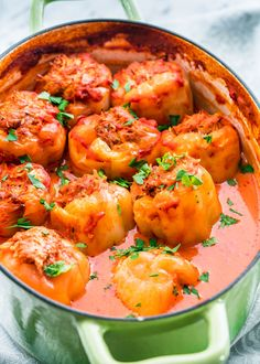 I grew up with these Romanian Stuffed Peppers (Ardei Umpluti) and to this day it's one of my favorite dishes ever. Using sweet yellow Hungarian peppers, stuffed with a mixture of ground pork, rice and herbs and slowly cooked in a simple tomato sauce with Pork Recipes, Cooking Recipes, Healthy Recipes, Simple Recipes, Delicious Recipes, Chicken Recipes, Healthy Food, Recipies, 21 Day Fix
