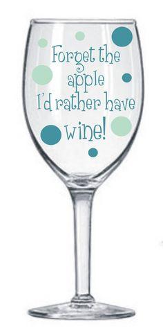 2 Teacher Decals for Wine Glasses DIY kit  Teacher  by MUTShop