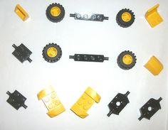 #$13.59 ONSALE LEGO Yellow Wheels Rims 6014 6015 30602 44674 4SET 5887 7642 8364 6600 7993 7891 #LEGO