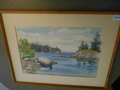 watercolor by listed  artist C.K. Cobb done in 1957 Vintage Landscape, Watercolor, Artist, Painting, Ebay, Watercolour, Watercolor Painting, Artists, Paint