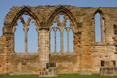 Whitby Abbey Ruins 7 by FoxStox on DeviantArt Whitby Abbey, Tourist Spots, Barcelona Cathedral, Taj Mahal, Restoration, Building, Places, Travel, Castles