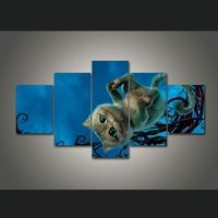 5 Pieces Cartoon Alice In Wonderland Cheshire Cat Modern Home Wall Decor Canvas Picture Art HD Print Painting On Canvas Artworks Naruto Painting, Cheshire Cat, Home Wall Decor, Canvas Pictures, Canvas Artwork, Home Art, Alice In Wonderland, Artworks, Lion Sculpture