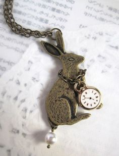 Mr Bunny Rushing For Time Whimsical Fairytale