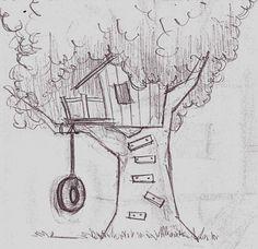 red tree house for kids | Jackson Art: Kids Room Mural